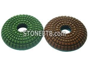 Convex Polishing Pads for Stone