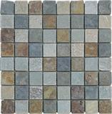 Mix color slate mosaic tile