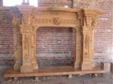 sanstone marble granite fireplace