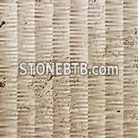 Natural travertine 3d indoor wall paneling