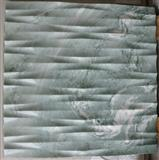 Natural marble 3d feature panels on walls