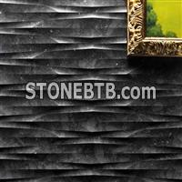 Natural marble 3d textured wall panels