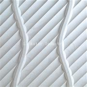 3D white artistic sculptural stone wall art cladding panel
