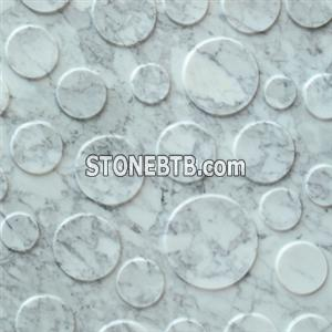 Natural 3d Carrara White stone wall cladding tile