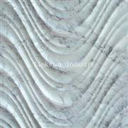 Decorative 3d wavy carrara white stone feature wall panel
