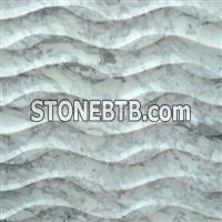 3d natural interior carrara white marble feature wall panel
