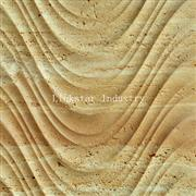 3d natural carved travertine patterns for wall