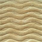 Natural 3D travertine wall art facing tile