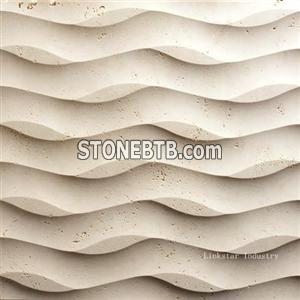 Natural 3d cnc feature stone wall coverings tiles