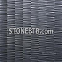 3d cnc decorative black basalt wall panelling