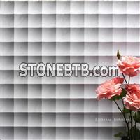 3d decorative marble feature wall cladding tile