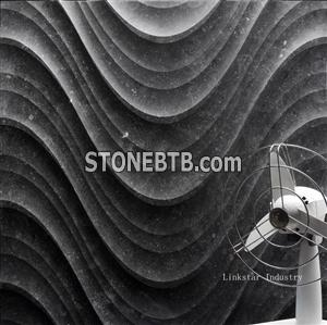 3d decorative wavy feature stone wall tile