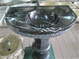 China Black Marble Bathroom Basin
