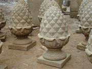 Marble Statues\(1-1) Antique marble finial-2556