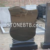 Black Granite Monument, Tombstone, Gravestone