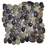 Mixed mosaic pebble tile