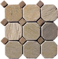 Interlocking Slate stone mosaic