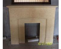 CF-33 Egyptian Yellow Fireplace