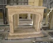 CF-46 Beige Travertine Fireplace