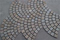 Paving Stone,fan-shape stone tile for exterior decoration,granite stone,natural stone