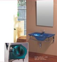 Glass Sanitary Wares- Blue