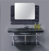 Glass Vanity Top-Black