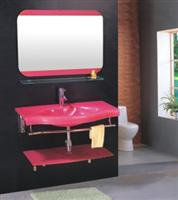 Glass Sanitary Wares- Pink