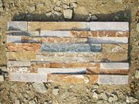 S1120 Rust Rough Culture Stone China Chitrust Slate Ledge Stacked Stone