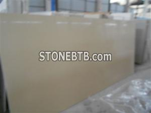 Quartz Slabs Beige Color Kitchen Countertops/Vanity Tops