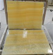 Honey onyx glass laminated panel