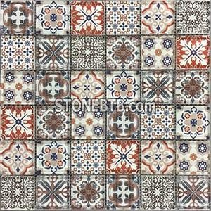 newest mosaic materials for promotion Inkjet glass mosaic tiles mosaic tiles