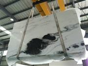 Hot Sale Bookmatch Panda White Marble Tile,panda stone white and black marble slab,white panda marble
