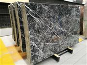 New white and black marble slab