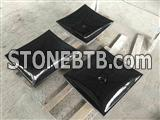 Black granite irregular square vessels