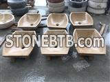 Popular irregular marble bathtoom basin