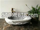 Beautiful Oval carrara white marble bathroom sink