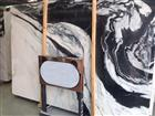 Hot and popular panda white marble slab for project