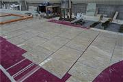 Customized yellow and brown marble tile for project