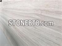 First material white wooden vein marble slab