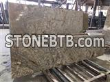 Imported beautiful Giallo Bordeaux granite slab