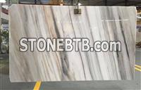 Elegant and Luxury White Blanca marble with light for wall