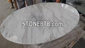 Beautigul round Volakas white marble table top