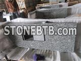 China spary wave white granite countertop