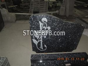 Blue Pearl Granite Tombstone Monument Tombstone Gravestone for hot sale