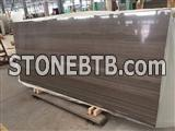 China very beautiful coffee brown marble for project