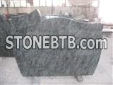 Olive green granite tombstone/gravestone/memorial
