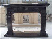 pure black fireplace