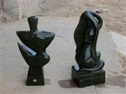 Black Marble Abstract Sculpture