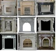 Fireplace made of different material