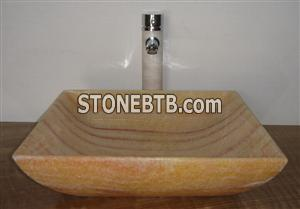 Yellow Onyx sink,wash basin
